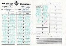 Print. 1970 Chess Olympiad - Bobby Fischer's game notation