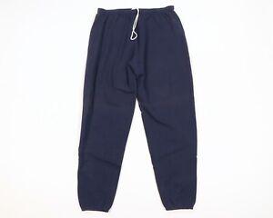 Vtg 90s Streetwear Mens XLT Blank Faded Sweatpants Joggers Jogger Pants Blue USA