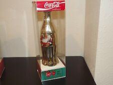 1996 Coca Cola Gold Plated Santa Christmas 8 oz. Commemorative Bottle MIB