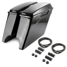 New Extended Stretched Saddle Bags Fit For Hard Harley Davidson 1993-2013