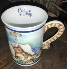 "Comical Cats Coffee Mug Gary Patterson ""Cat Nap� Danbury Mint Collectible Cup"