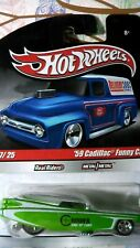 HOT WHEELS 1/64 DELIVERY 2010 7/25 '59 CADILLAC FUNNY CAR Real Riders NEW a