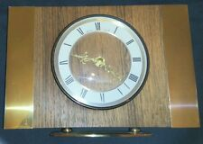 Bentima Mantle Clock Quartz Retro Chic Brass & Oak