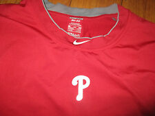 Game Worn PHILADELPHIA PHILLIES Ernie Whitt LgSlv Workout Shirt XXL Nike Dri Fit