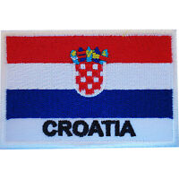 Croatia Flag Patch Croatian Iron On Sew On Badge Clothes Embroidered Applique