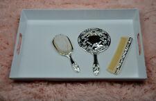 Harry Koenig Silver-Plated Vanity Set - 3 pc