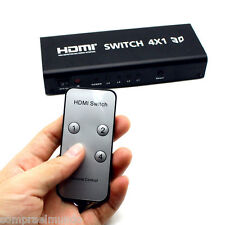 5 Ports 4X1 Inputs HDMI Switch Splitter IR Control Audio Toslink Coaxial 1080P