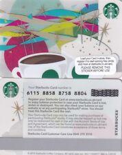 UK STARBUCKS COFFEE CARD .COFFEE CUPS,.. MINT UNUSED,