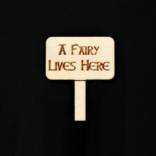 """Fairy Door Accessory """" A FAIRY LIVES HERE"""" sign  for Fairy Door ~ 10 Pack"""