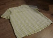 Profile Size 20 Striped Yellow White Silver Sparkling thread Decor Top T-shirt