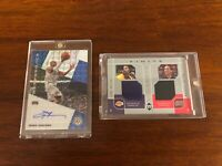 2019-20 MOSAIC ALLEN IVERSON AUTO & 2002 UD KOBE BRYANT IVERSON GAME USED LOT 2
