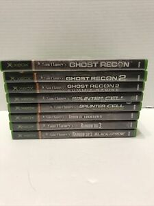 Lot Of 8 XBOX Tom Clancy's Ghost Recon, Splinter Cell And Rainbow Six Games (B3)