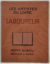 ARTISTES DU LIVRE LABOUREUR 1929 éd. HENRY BABOU complet des 13 planches