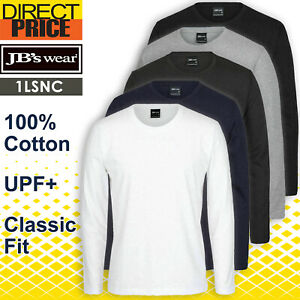JB's wear Tee T shirt, Non Cuff, Long Sleeve Cotton 1LSNC