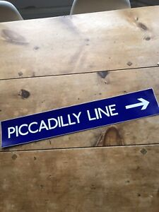 London Underground Unused Temporary Piccadilly Line Sign Tube Excellent