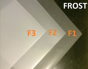 """3 X Frost Diffusion White Lighting Filter Gel Sheets 24"""" x 24"""" F1 F2 F3 Gel Pack"""
