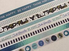 Recollections Washi Tape SAMPLES, Be Free Blues, 8 samples washi tape, planner