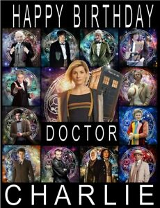 Personalised Dr Who Doctor Who A5 Birthday card any name age greeting occasion