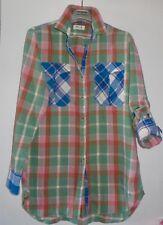 CHIC MIH ARTIST CHECK PLAID  FLANNEL LONG LENGHT TUNIC SHIRT