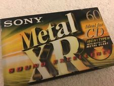 10 Sony XR Type IV Metal Audio Cassette Tapes New Lot