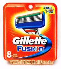 GILLETTE FUSION  RAZOR BLADES, 8 Cartridges, Brand New #005