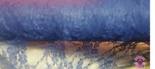 """Blue Floral Poly Spandex Stretch Lace Fabric By The Yard 54"""" Wide"""