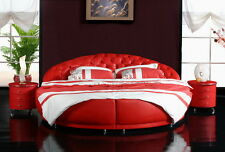 Chesterfield round Bed XXL Designer Big Double Upholstered New