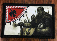 color VIKING Blackbird Sun Morale Patch Raven Tactical Military Army Badge Hook