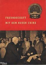 Freundschaft mit dem neuen China Propaganda Heft DDR Mao Tse-tung um 1952