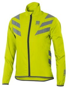 "Sportful Castelli Kids 12 Year Old ""Super Visible"" Cycling Jacket NEON Yellow"