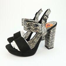 Rocket Dog Studio Coast Womens Black White Platform Heels Sandals Size 8.5 pl5