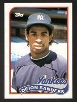 1989 Topps Traded TIFFANY DEION SANDERS ROOKIE #110T NM-MINT New York Yankees