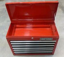 "VINTAGE CRAFTSMAN 6-DRAWER RED STEEL TOOL BOX - 26"" x 19"" x 12"""