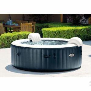 Intex PureSpa Plus 6 Person Portable Inflatable Round Hot Tub Jet Spa