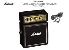 MARSHALL MS-2 B BLACK Mini amplificatore 1W per chitarra a batteria + cavo MS2