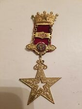 Vintage MASONIC MEDAL PIN BADGE w/  STAR 1105