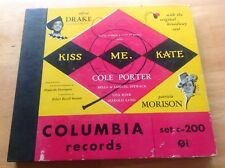 Aflred Drake, Patricia Morison on 78 rpm Columbia Album C200 – Kiss Me Kate 1949