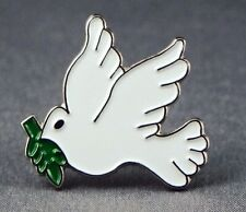 Metal Enamel Pin Badge Brooch Dove of Peace Bird
