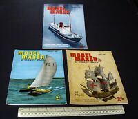 1961 Vintage Model Maker Magazine x 3. Ships Cars Yachts Adverts Engineering #4
