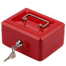 Mini Cash Box Security Safe With Money Tray Key Lock Small Gun Jewelry Storage