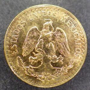 Mexican Dos (2) TWO Pesos Gold Coin 1945 AU/BU Estados Unidos Mexicanos