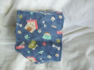 "Dog Puppy Belly Band Wrap Contoured Diaper Male Puppy Flannel lined 16.5"" HOUSES"