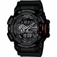 CASIO G-SHOCK GA-400-1BJF Big Case TOTAL BLACK Analog & Digital w/ Tracking NEW