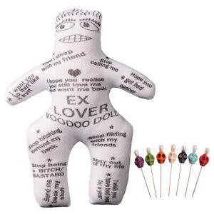 1pc Voodoo Doll Revenge Spell with 7 pcs Skull Pins EX Lover Doll