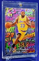 LEBRON JAMES FLAIR HOT NUMBERS LOS ANGELES LAKERS DRIVING RARE W/ ONE TOUCH CASE
