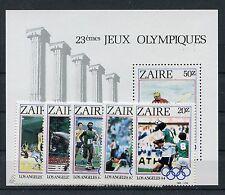 Zaire 861/65 Block 49 postfrisch / Olympiade - Fußball ...................1/3694
