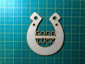 Good Luck Horseshoe MDF Laser Cut Craft Blanks in Various Sizes, Embellishment,