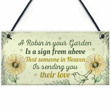 Robin Memorial Garden Bereavement Sign Family Grave Plaque Christmas Gift