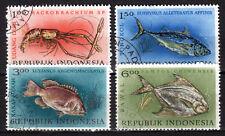 Indonesia - 1963 Fishing Day / Fish Mi. 392-95 VFU