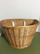 Vintage Woven Wicker Handlebar Mounted Bicycle Basket Bike Accessory Part